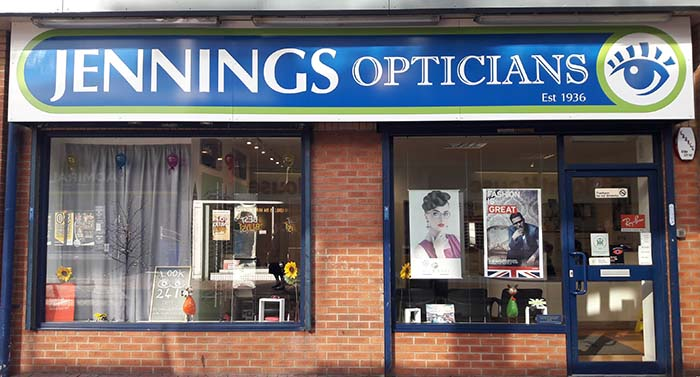 Contact Jennings Opticians in Wythenshawe